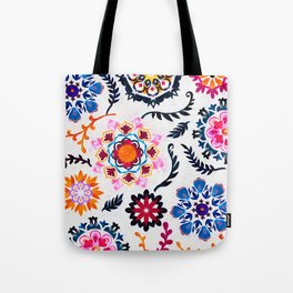 Happy Color Suzani Inspired Pattern Tote Bag