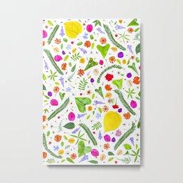 Leaves and flowers (9) Metal Print