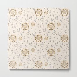 Elegant flower seamless pattern Metal Print