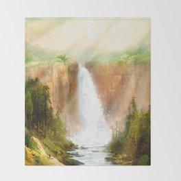 Beyond the Waterfall Throw Blanket