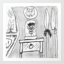Moonguts Family Heirloom: Uncle Ned's Shrunken Head Art Print