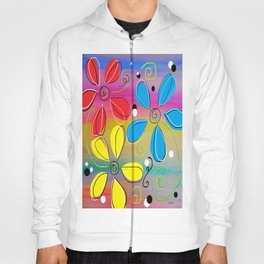 Bright Flowers Intertwined Hoody