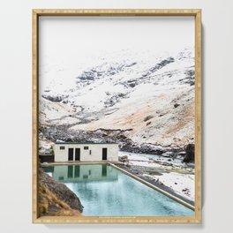 Seljavallalaug Pool, Iceland Serving Tray