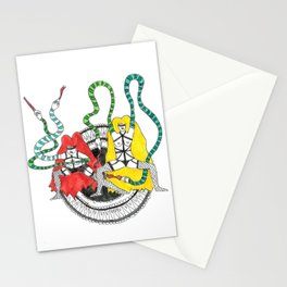 She Snakes Stationery Cards