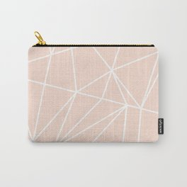Geo Pattern (Nude and White) Carry-All Pouch