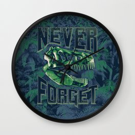 Never Forget T-Rex Wall Clock