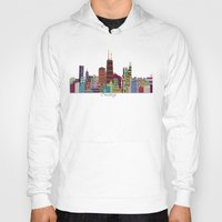 chicago Hoodies featuring Chicago  by bri.b