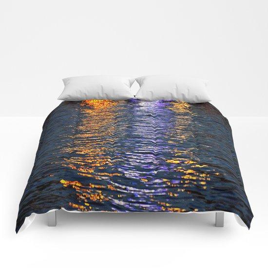 sea reflex in colors Comforters