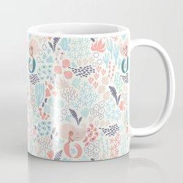 Coral and mermaid hand drawn digital pattern Coffee Mug