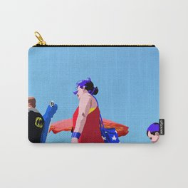 Super...on the beach Carry-All Pouch