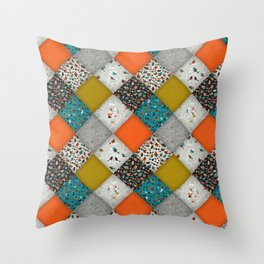 bird love diamonds Throw Pillow