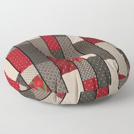 Country motifs . Classic quilting. Floor Pillow