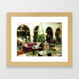Holiday time Inside Ringling Mansion Framed Art Print