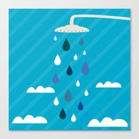 shower Canvas Prints featuring shower  by mark ashkenazi