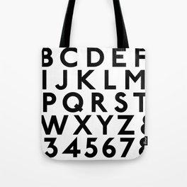 Complete Classic Type Alphabet 123 Tote Bag