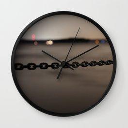 Night on the Mississippi Wall Clock
