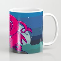 skyrim Mugs featuring Last of the Dovah (Skyrim) by Andrea Meli