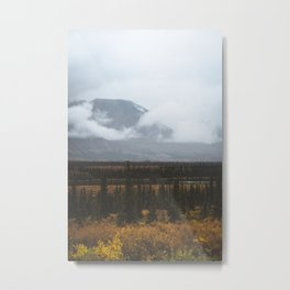 On the road in Alaska Metal Print