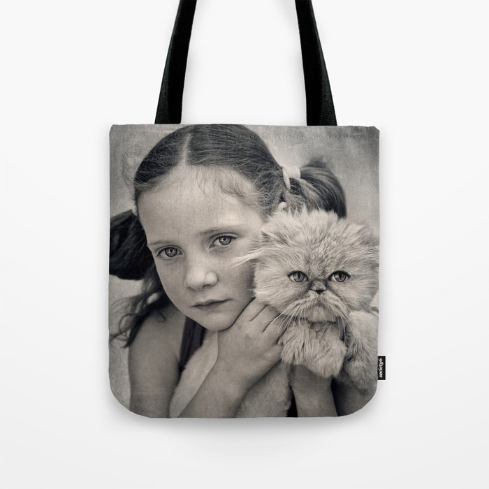 A Girl and her Cat Tote Bag