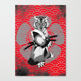 Tiger Samurai Canvas Print