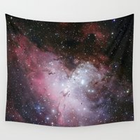 nasa Wall Tapestries featuring Nebula star Eagle constellation galaxy hipster NASA space stars hipster geek sci fi landscape photo by iGallery