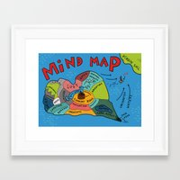 uncharted Framed Art Prints featuring Uncharted Waters by miumau