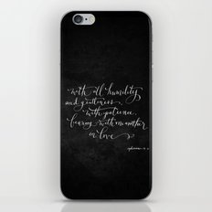 Bearing in Love // White on Black iPhone & iPod Skin