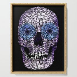 Skull Art - Day Of The Dead 2 Stone Rock'd Serving Tray