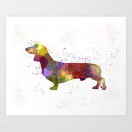 Dachshund in watercolor Art Print