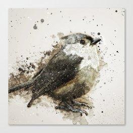 Tufted Titmouse Bird Splatter Canvas Print