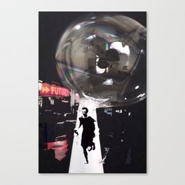Just Don't Burst my Bubble in the Future Canvas Print