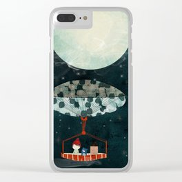 i see the moon too Clear iPhone Case