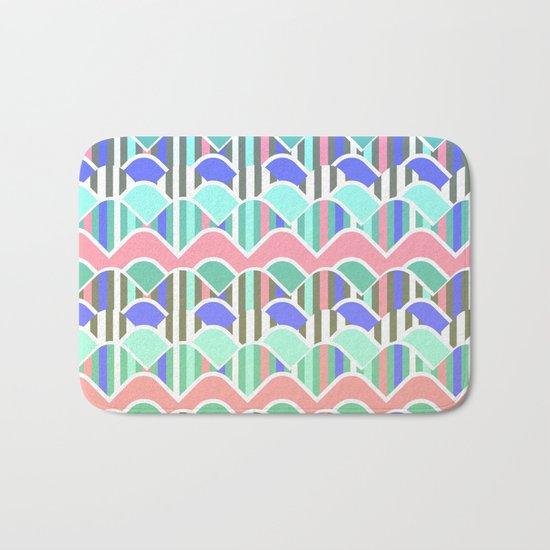 Colorful waves- upside down Bath Mat