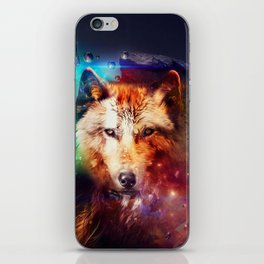 Colorful face wolf  iPhone Skin