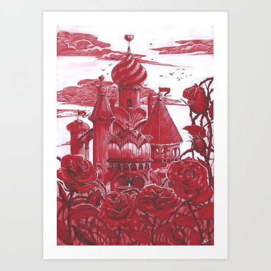 Red Castle Art Print