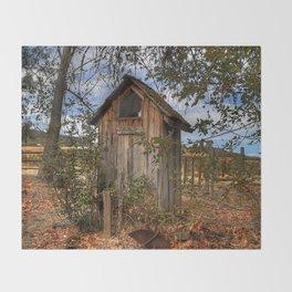 Outhouse Throw Blanket
