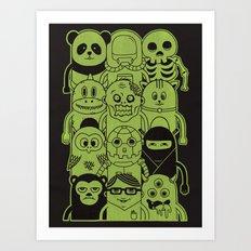 Famous Characters Art Print