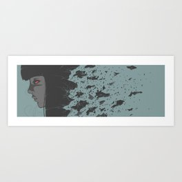 glass of wine Art Print