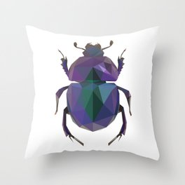 Lowpoly Dung Beetle Throw Pillow