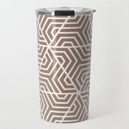 Beaver - violet - Geometric Seamless Triangles Pattern Travel Mug