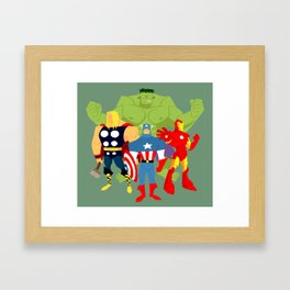 Avengers Cartoon-ed! Framed Art Print