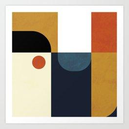 mid century abstract shapes fall winter 4 Art Print