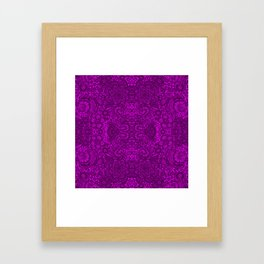 Purple lace flowers and doves Framed Art Print