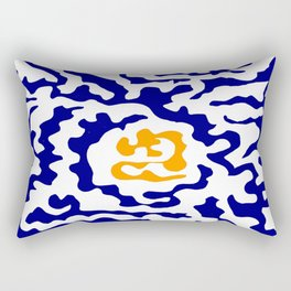 Abstraction in the style of Matisse 49 orange and blue Rectangular Pillow