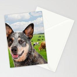 Australian Cattle Dog Blue Stationery Cards