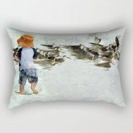 Bird Play Rectangular Pillow