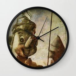 Povero Pinocchio Wall Clock