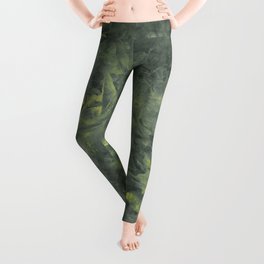 Green and Yellow Storm Leggings