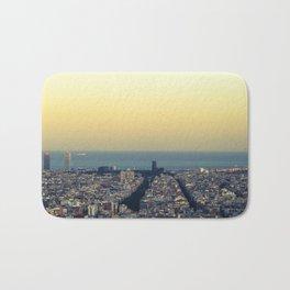 Barcelona view Bath Mat