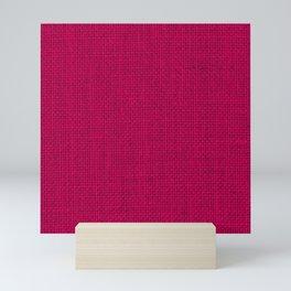 Natural Woven Hot Pink Burlap Sack Cloth Mini Art Print